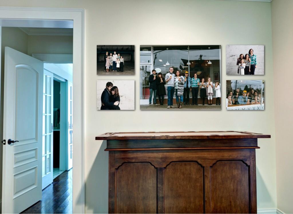 Ice Cream Social Tacoma family photography wall gallery